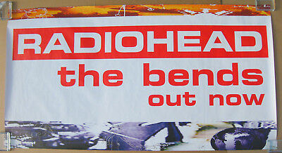 RADIOHEAD The Bends 1995 UK Promo Subway POSTER Huge! THOM YORKE VG • 126.81£