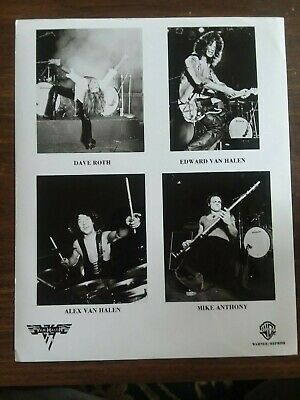 Van Halen Promo 8x10 Warner Bros Records • 12.59£