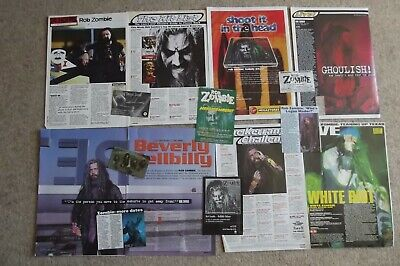 Rob White Zombie - Magazine Cuttings Collection - Articles, Photos Clippings X34 • 2.94£