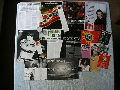 Primal Scream - Magazine Cuttings Collection - Clippings, Photos, Articles X22. • 2.94£