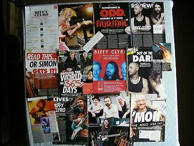 Biffy Clyro - Magazine Cuttings Collection - Clippings, Photos, Articles X16. • 2.54£