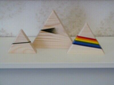 Pink Floyd - The Dark Side Of The Moon - Pyramids - Plain Wood Ornament • 35£