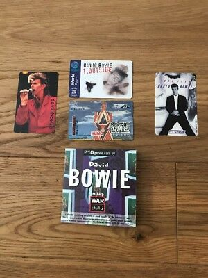 Rare David Bowie 5 X Phone Cards • 65£