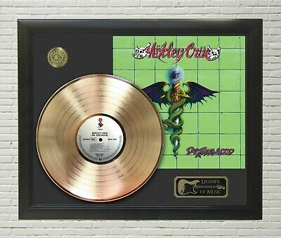 Motley Crue Dr. Feelgood Framed Legends Of Music Gold LP Record Display • 133.31£