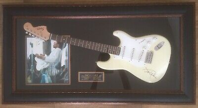 Jimi Hendrix Wall Hanging Display, Guitar Engraved With Facsimile Signature • 350£