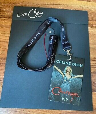 CELINE DION Swag VIP Courage Tour SKETCHES + LANYARD Brand New  ~  FREE SHIP! • 14.81£