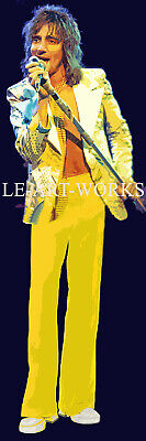 REAL LIFE SIZE SIR ROD STEWART ON STAGE HUGE CANVAS RETRO POP ART POSTER 180cm  • 12.95£