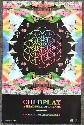 Coldplay A Head Full Of Dreams 2015 PROMO POSTER • 6.38£