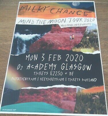 Milky Chance - Live Music Show Feb 2020 Promotional Tour Concert Gig Poster • 4.99£