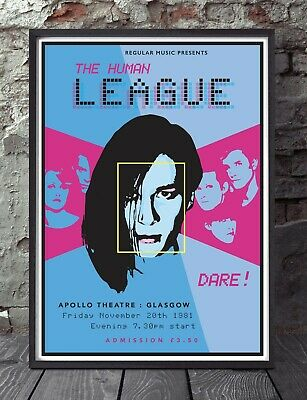 The Human League Print  Poster. Specially Created. • 5£