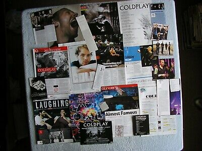 Coldplay - Magazine Cuttings Collection - Clippings, Photos, Articles X24. • 2.94£
