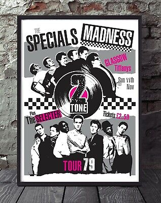 Two Tone Specials Madness A4 Poster. Specially Created. • 5£
