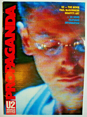 PROPAGANDA No 7 WORLD SERVICE Magazine U2 Fan Club Bono ADAM Edge LARRY Oct 1987 • 45£