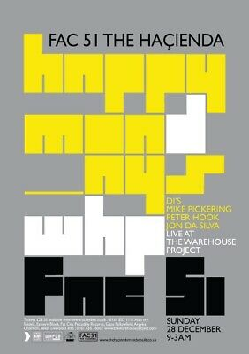 Happy Mondays - Fac 51 - Manchester Poster - At The Warehouse Project • 28£