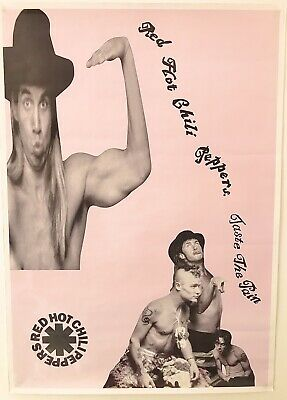 Rare Vintage Red Hot Chili Peppers Taste The Pain Poster  • 30£