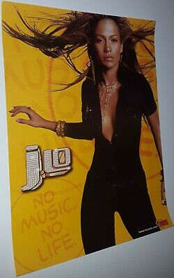 Jennifer Lopez   No Music No Lfe   Promotional Only Poster  J Lo Tower Records  • 8.68£