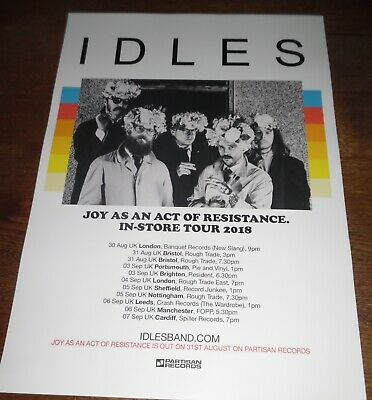 Idles - Live Music Show Sept 2018 Promotional Tour Concert Gig Poster • 4.99£