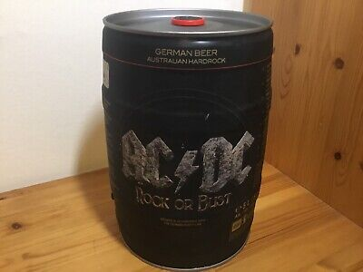AC/DC Empty Beer Keg Upcycling Memorabilia Rock Or Bust ACDC • 20£