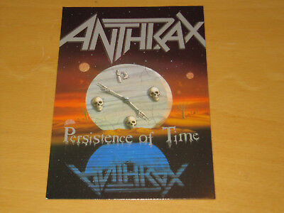 Anthrax - Persistence Of Time - Vintage Postcard                         (promo) • 4.99£
