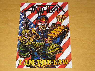 Anthrax - I Am The Law - Vintage Postcard                         (promo) • 4.99£