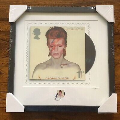 ALADDIN SANE David Bowie Royal Mail Limited Edition Framed Print & Stamp - RARE • 249£