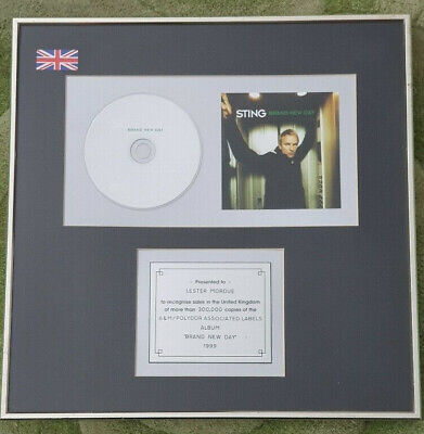 STING - Brand New Day Officially Commissioned 1999 Platinum UK Cd Sales Award • 4.99£