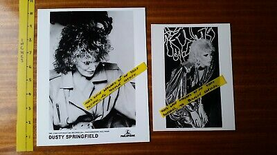 DUSTY SPRINGFIELD   2 X OLD B&W PHOTOS  Parlophone Promo   1980's  Very Good +  • 3£