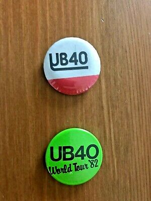 2 Collectable Vintage UB40 Button Badges From The 1980's, Good Condition. • 4.99£
