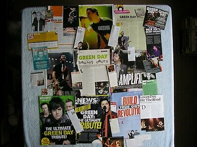 Green Day - Magazine Cuttings Collection - Articles, Photos, Clippings X29. • 2.54£