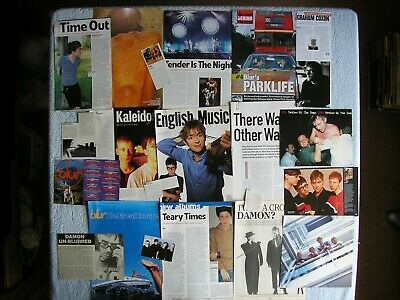 Blur - Magazine Cuttings Collection - Clippings, Photos, Articles X21 • 2.94£