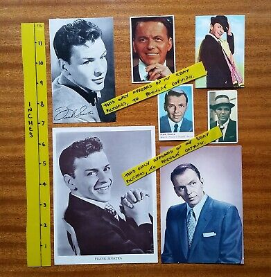FRANK SINATRA Collection Of OLD Cards 50's/60's Gum Cards  Comic Free Gifts Etc  • 3£