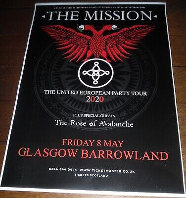 The Mission - Live Music Show May 2020 Promotional Tour Concert Gig Poster • 4.99£