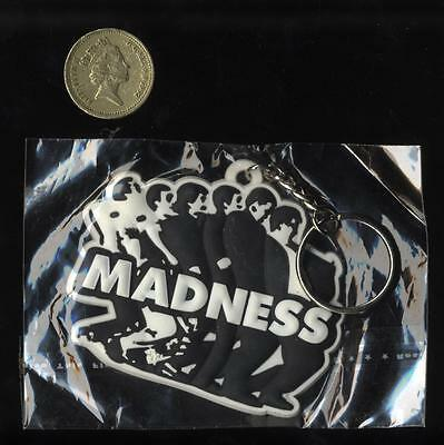 MADNESS - LARGE EMBOSSED RUBBER KEYRING - Suggs Ska Two 2 Tone Mod Stiff Lp Cd • 5.99£