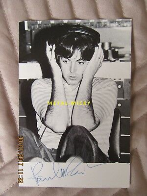 + Paul Mccartney/beatles/wings Signed/autographed Tug Of War Postcard Authentic+ • 650£