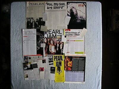 Pearl Jam - Magazine Cuttings Collection - Photos, Clippings, Articles X20. • 2.94£