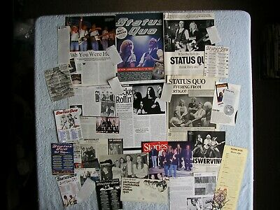 Status Quo - Magazine Cuttings Collection - Photos, Clippings, Articles X29. • 2.94£