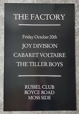 Joy Division Factory Records FAC 3 Peter Saville Poster Signed • 200£