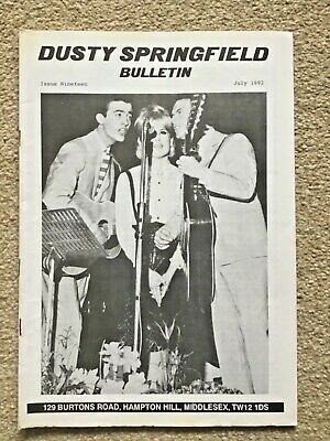 Dusty Springfield Bulletin Number 19  - July 1992 • 1.99£
