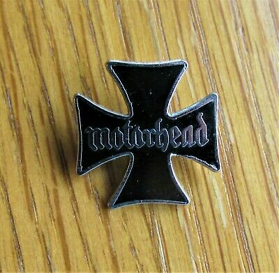 MOTORHEAD MALTESE CROSS SHAPED ENAMEL PIN BADGE FROM THE 1980's LEMMY • 29.99£