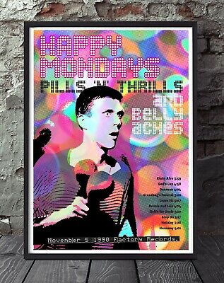 Happy Mondays Bez A4 Size Print  Poster. Specially Created. • 5£