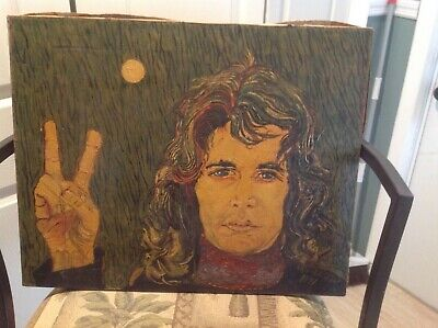 Vintage 1971 Jim Morrison Painting By Ken Watson, From Mothers Of Invention LP • 279.35£