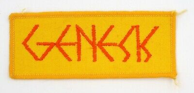 GENESIS 'Name' Vintage Sew-on Embroidered Patch • 2.95£