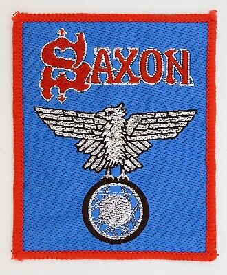 SAXON 'Wheels Of Steel' Vintage Sew-on Woven Patch * Metal * • 2.95£