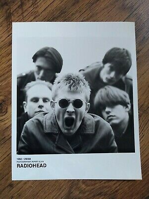 RADIOHEAD Black & White Promotional Photo, 1992 ORIGINAL 8 By 10  RARE CREEP ERA • 29.95£