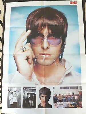 OASIS Large Fold Out NME DOUBLE SIDED POSTER For FINSBURY PARK 2002 • 9.99£