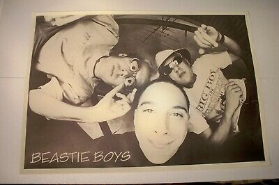 Large 24x34 Beastie Boys B&W Black & White Poster Made In England Good Condition • 22.19£