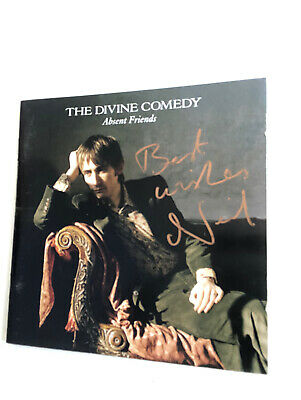 The Divine Comedy Absent Friends Cd Inlay Signed By Neil Hannon • 25£