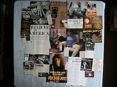 Bon Jovi - Magazine Cuttings Collection - Clippings, Articles, Photos X27. • 2.94£