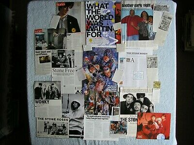 Stone Roses - Magazine Cuttings Collection - Photos, Clippings, Articles X24. • 3.94£