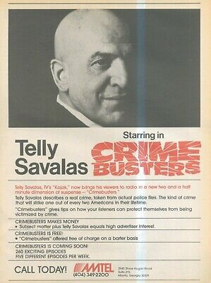 (sfbk38) Poster/ Advert 14x11  Telly Savalas In Crime Busters On The Radio • 26.99£